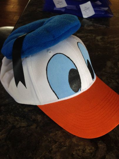ef88f8871c8 Donald Duck Style Cap Child   Adult by Tapalu on Etsy