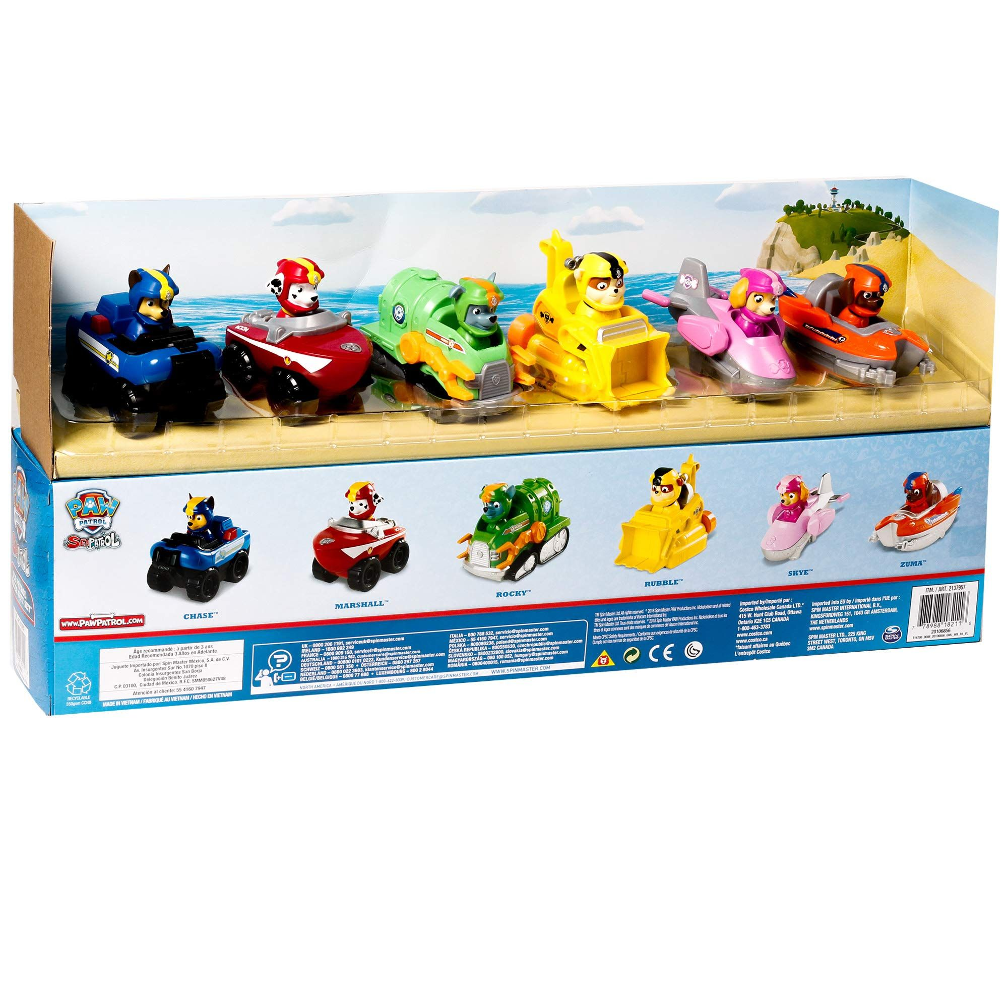 Quatang Gallery- Paw Patrol Sea Patrol Racers Choice 6pack Vehicle Gift Set Chase Marshall Rocky Rubble Skye And Zuma Go To The Photo Link Even More Paw Patrol Gift Set Paw