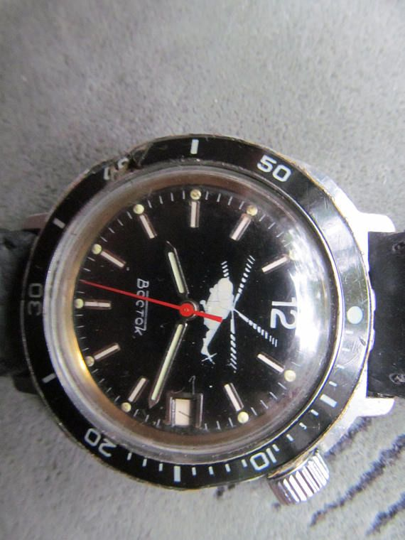 d5858e25f28 hand watch Vostok komandirskie helicopter copter commander military Wostok  wristwatches with calendar amphibian made in Soviet Union a great move