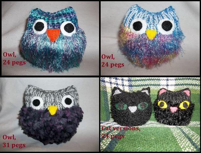 Loom Knit Owl - free pattern