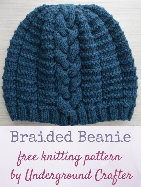 Free knitting pattern: Braided Beanie in Imperial Yarn Erin by ...