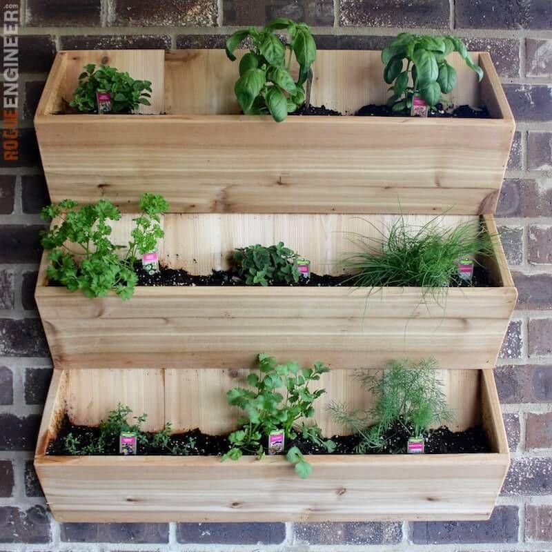 Cedar Wall Planter Free DIY Plans Diy Wall Planters And Gardens - Cool diy wall planter