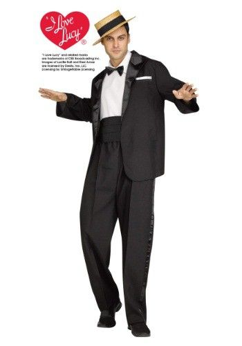 this mens ricky ricardo costume features a look straight from i love lucy - I Love Lucy Halloween Costumes