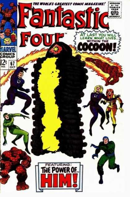 Fantastic Four 67 Jack the King Kirby silver age Marvel comics group. The birth of Warlock.