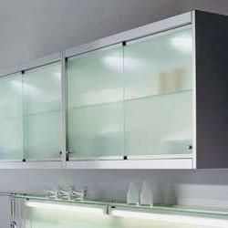 Sliding Kitchen Cabinet Doors Need Them Clear And White Like Blue - Kitchen cabinets with sliding doors