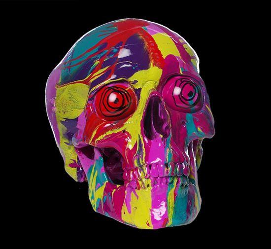 Damien Hirst Transcendent Head Hirst Damien Hirst Skull Painting