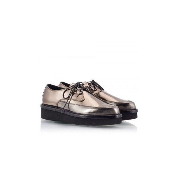 Alberto Guardiani ARYA Bronze metallic leather flatform women's... (€355) ❤