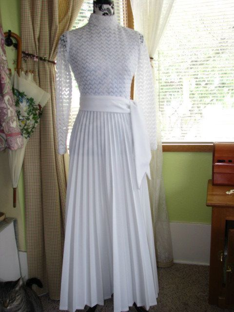 Late 60's Early 70's White Dress Wedding by BringingSexyBack, $79.95