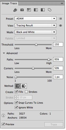 Adobeillustrator Cs6 Live Trace Settings The Way It Used To Be