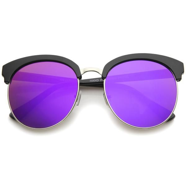 Fashion cat eye sunglasses are quite the craze due to the wear-ability for a wide range of faces.