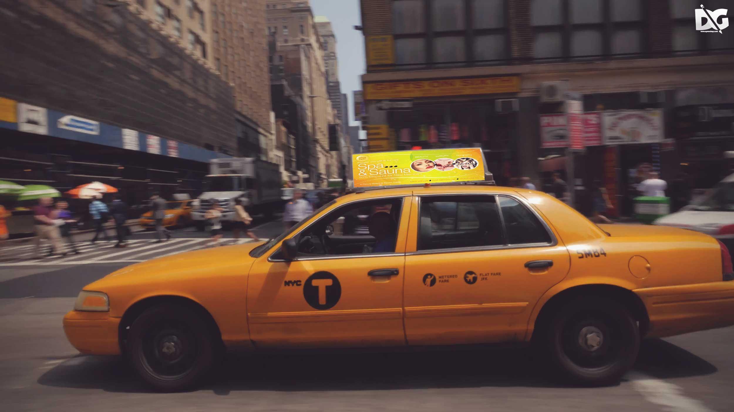 Taxi ad mockup