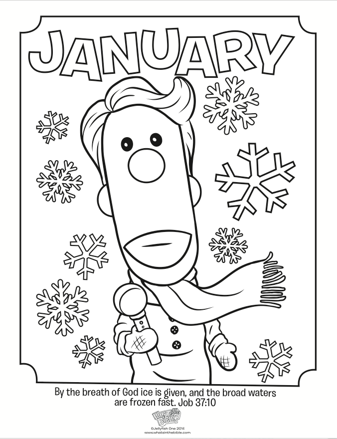 This Winter Coloring Page Features Buck Denver Reporting From A Snowstorm And The Beautiful Verse