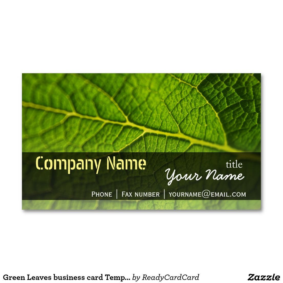 Green Leaves business card Templates   Card templates, Business ...