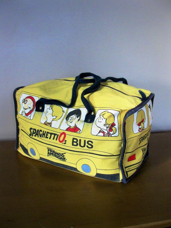 Rare Spaghettios Bus Lunch Tote Franco American Tote Bag Etsy Kids Lunch Bags American Tote Bag Lunch Tote
