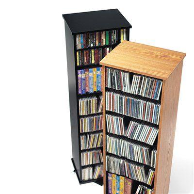 Prepac Furniture 2 Sided Spinning Multimedia Storage Tower