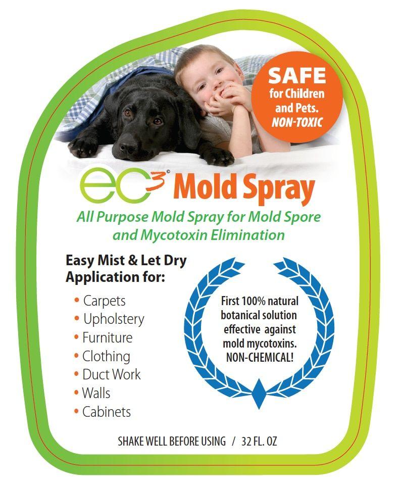 EC3 Mold Solution Spray Cleaning mold, Mold spray