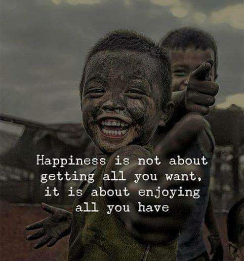 Happiness is Attained through Inner Fulfillment