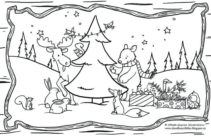 Printable Placemats Christmas Coloring Christmas Placemats