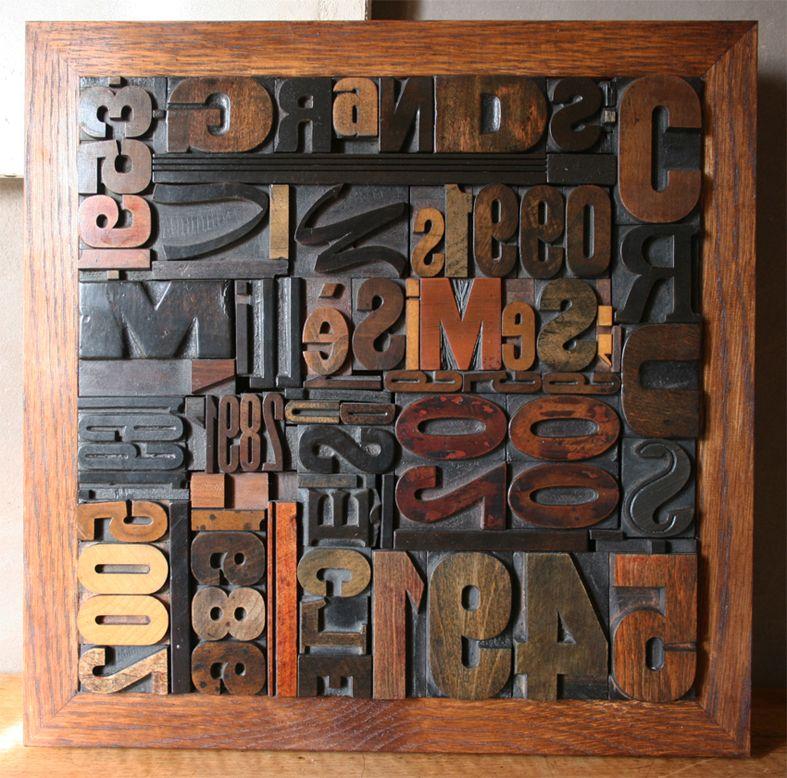 tableau millesimes lettres d 39 imprimerie vintage pinterest imprimerie lettres et tableau. Black Bedroom Furniture Sets. Home Design Ideas