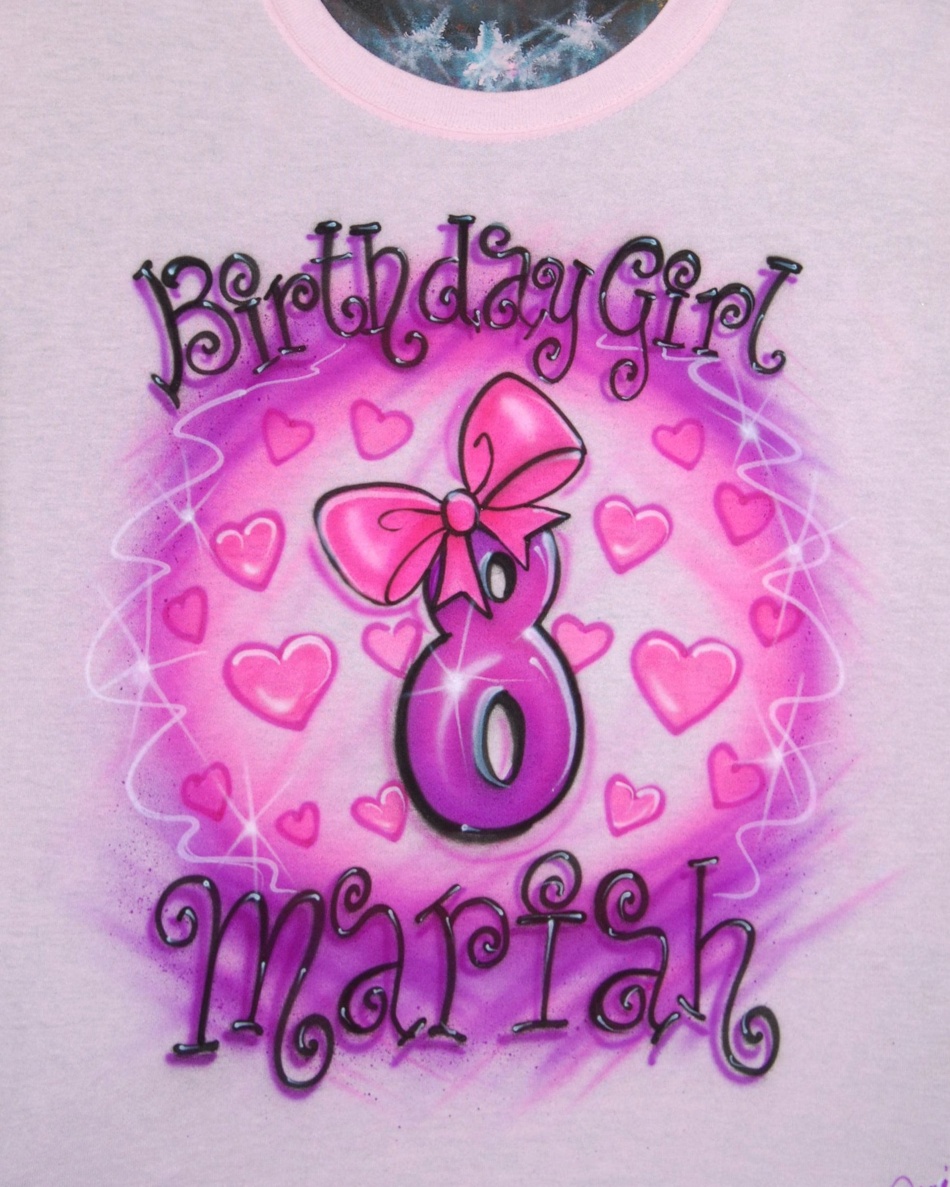 4dd71f65 Excited to share the latest addition to my #etsy shop: Airbrush Birthday  Girl 8