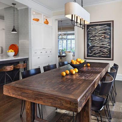 Raw Wood Dining Table Design, Pictures, Remodel, Decor and ...