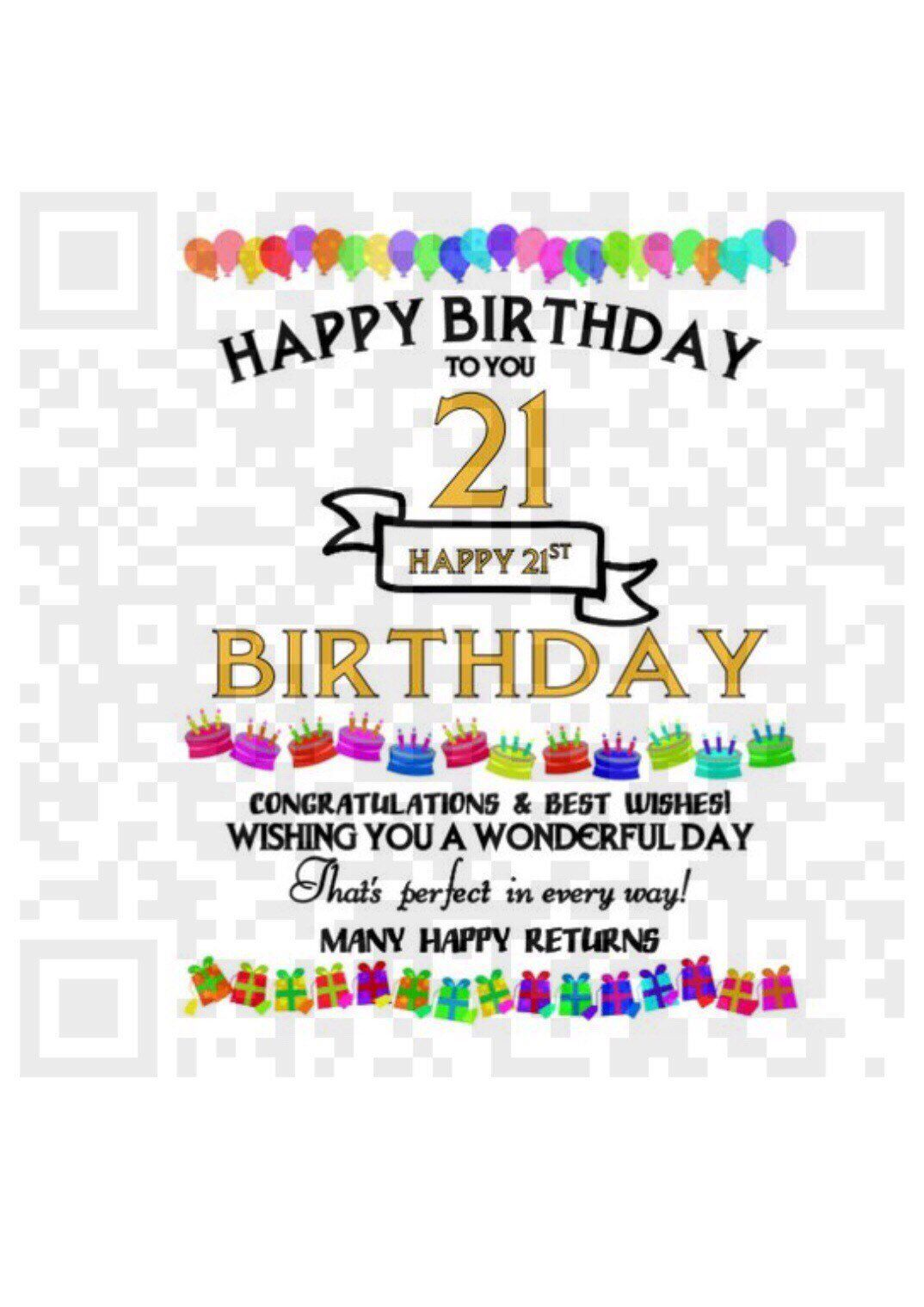 Happy 21st Birthday Png Sublimation Template Png 21st Birthday