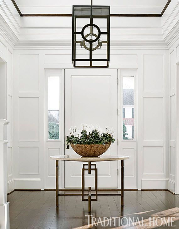 Design Crush Bradshaw Orrell Interiors Simplified Bee Foyer Design Foyer Decorating Traditional House