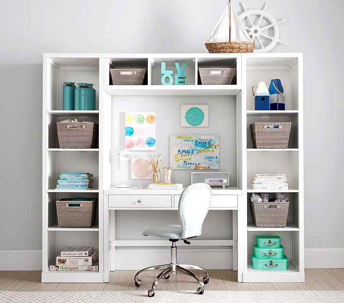18+ Bedroom desk with storage info