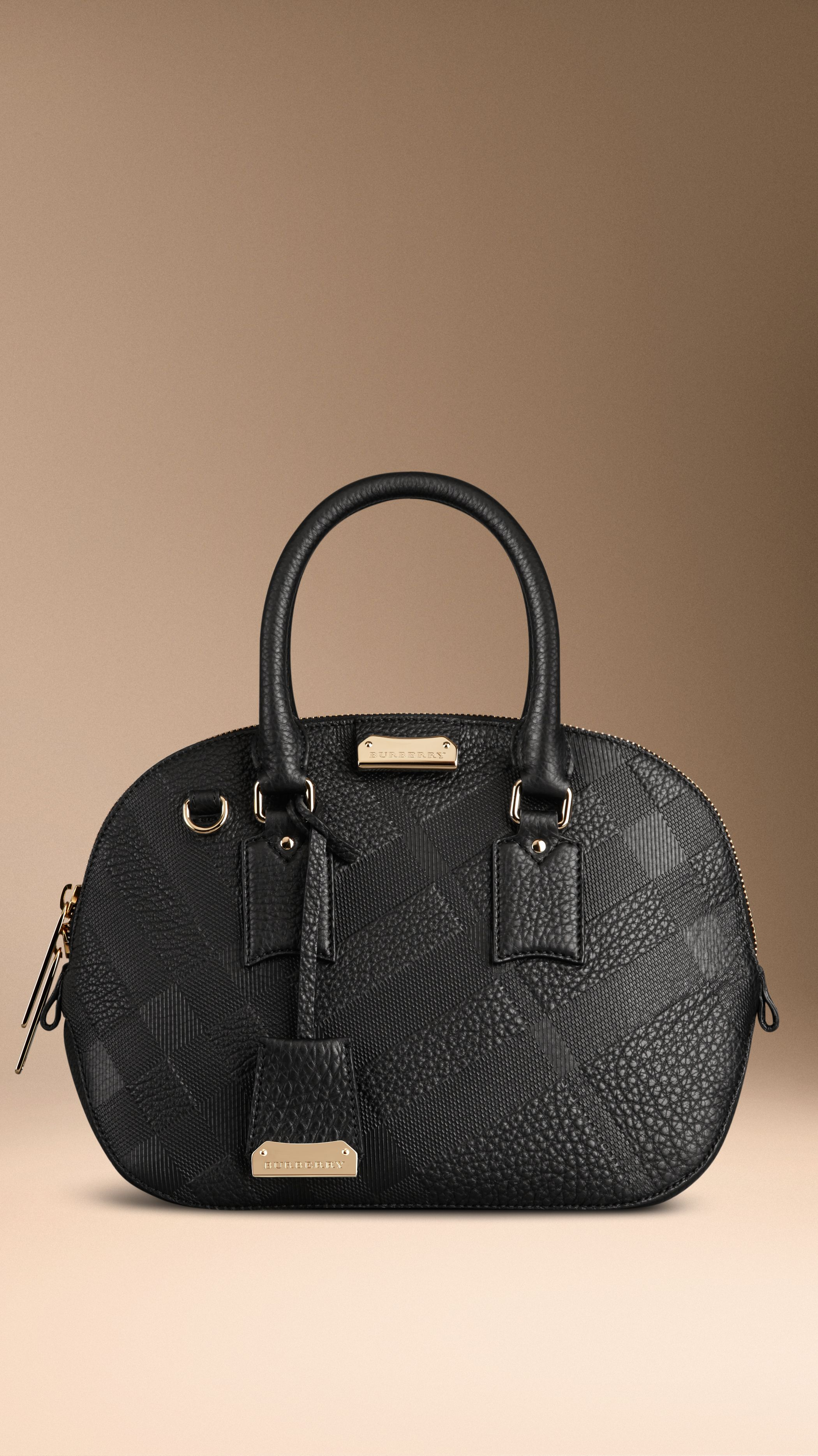 Crafted From Textured Check Embossed Signature Grain Leather The Bowling Bag Has A Structured Shape Inspired By Vintage Luggage Find Perfect Gift This