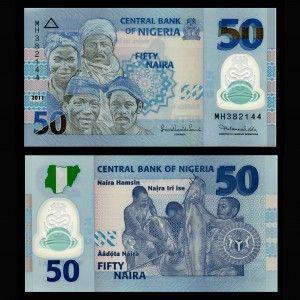 Resultado de imagen de billete de 50 naira de nigeria