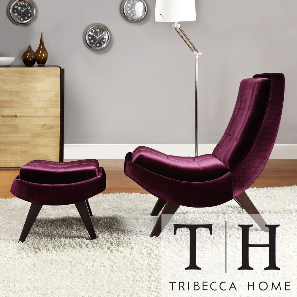 This Velvet Lounging Chair And Ottoman Offer The Ultimate