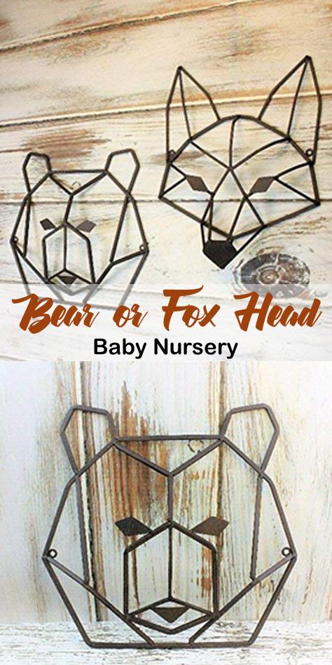 Bear Head Nursery Wall Decor images