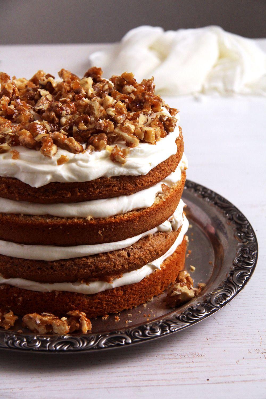 Walnut Cake With Candied Walnuts Recipe Recipe Walnut Recipes Cake Desserts