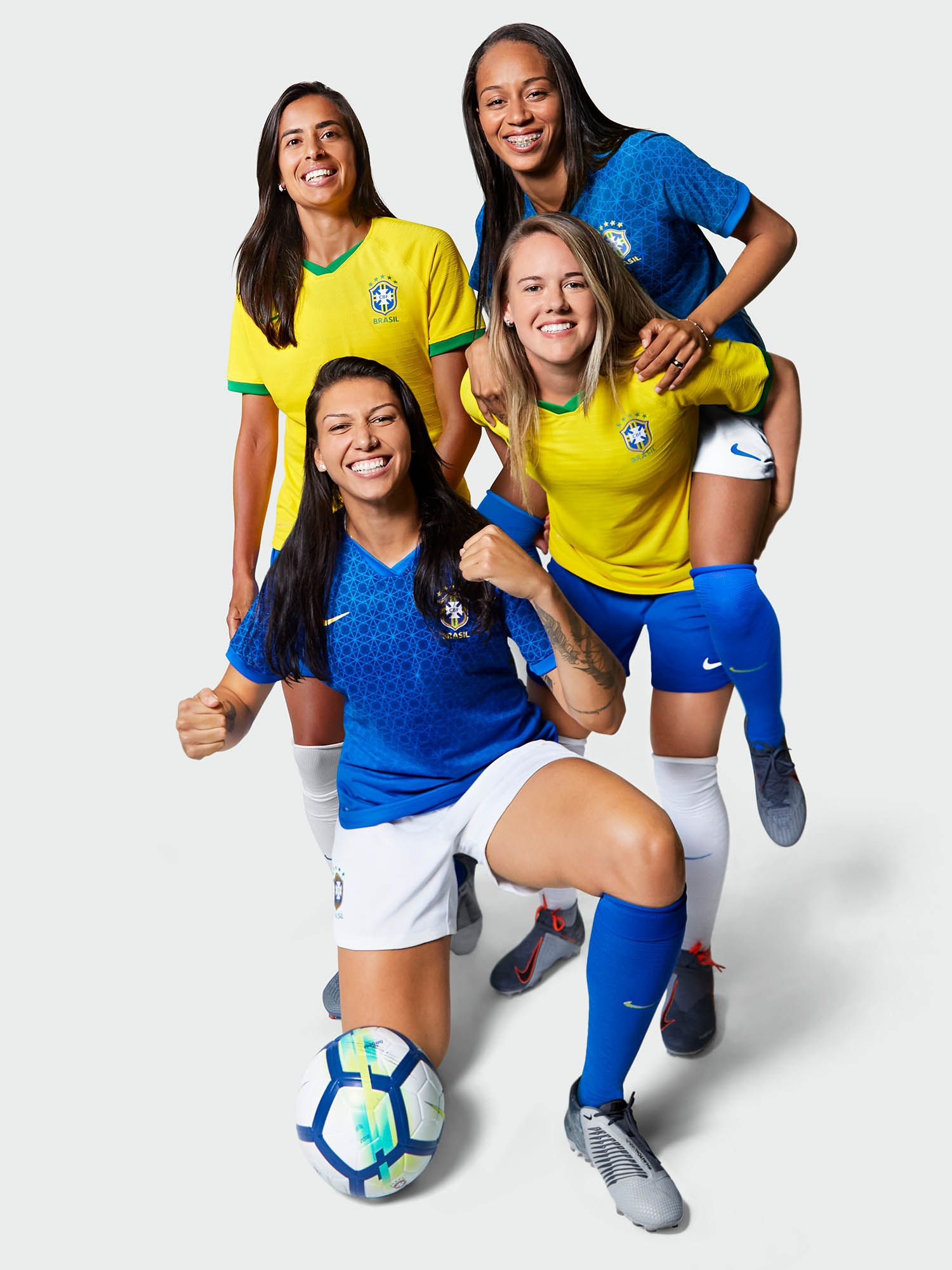 Nike Unveil International Kits For 14 Different Countries In Paris Soccerbible Brazil Women Women S Soccer Football Outfits