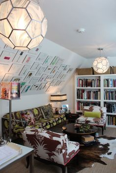 Image result for a-frame ideas hanging pictures on slanted walls