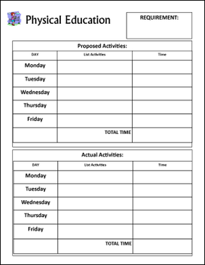 Free Printable Homeschool Record Keeping Forms  Physical