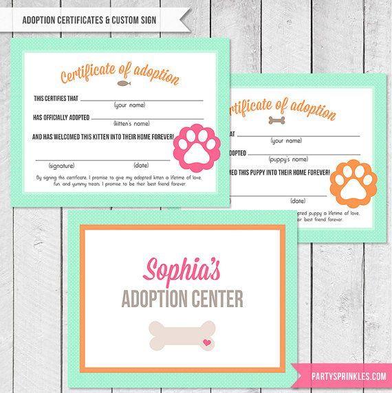 Puppy Adoption Certificate Template  Google Search  Jaxon
