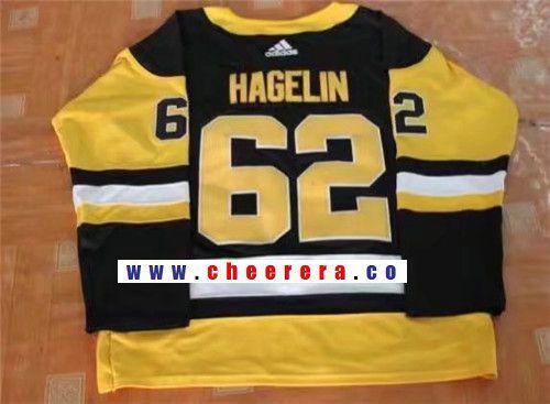 buy popular 82d15 4a41d Men's Pittsburgh Penguins #62 Carl Hagelin Black Home 2017 ...