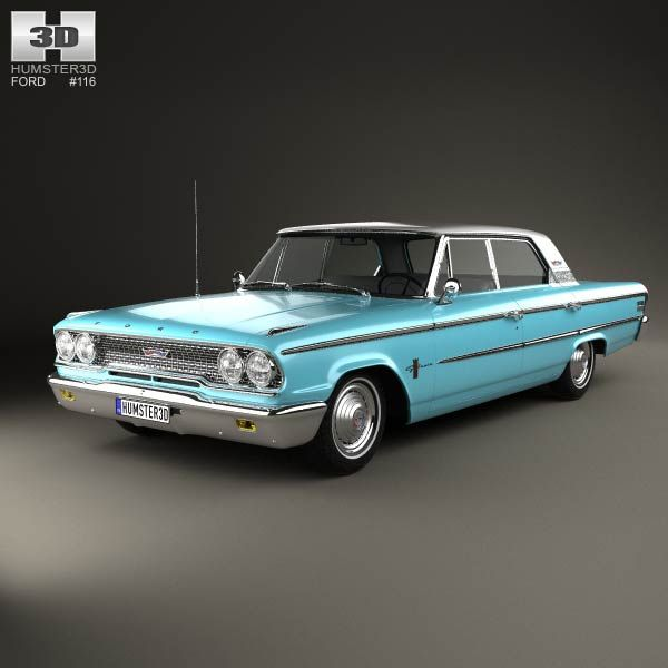 3d model of ford galaxie 500 hardtop 1963 ford galaxie 500 ford galaxie galaxie 500 3d model of ford galaxie 500 hardtop