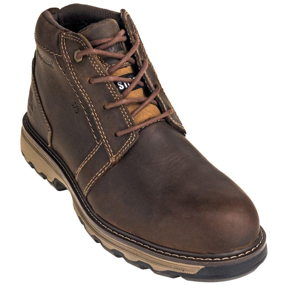 Caterpillar Shoes Men S 90715 Steel Toe Parker Esd Dark Beige