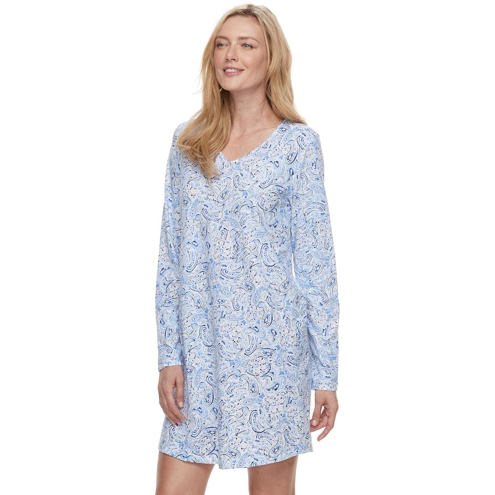 Women s Croft   Barrow® Pajamas  Knit Sleep Shirt ff4840f9d9ab