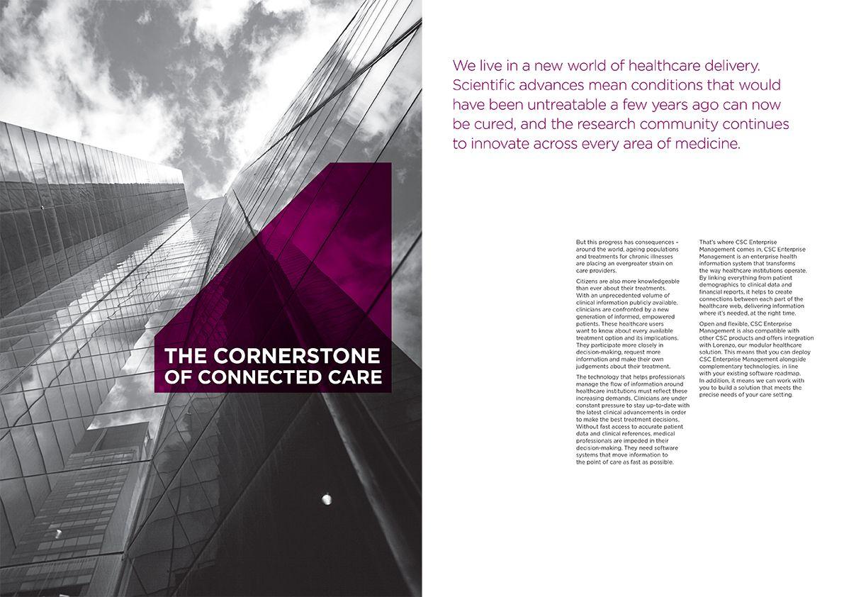 Enterprise Management solution brochure Graphic design