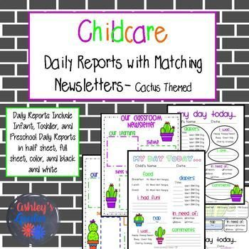 These childcare daily reports with matching newsletters are done in these childcare daily reports with matching newsletters are done in color and black and white as well as full sheet and half sheet in a very fun c altavistaventures Gallery