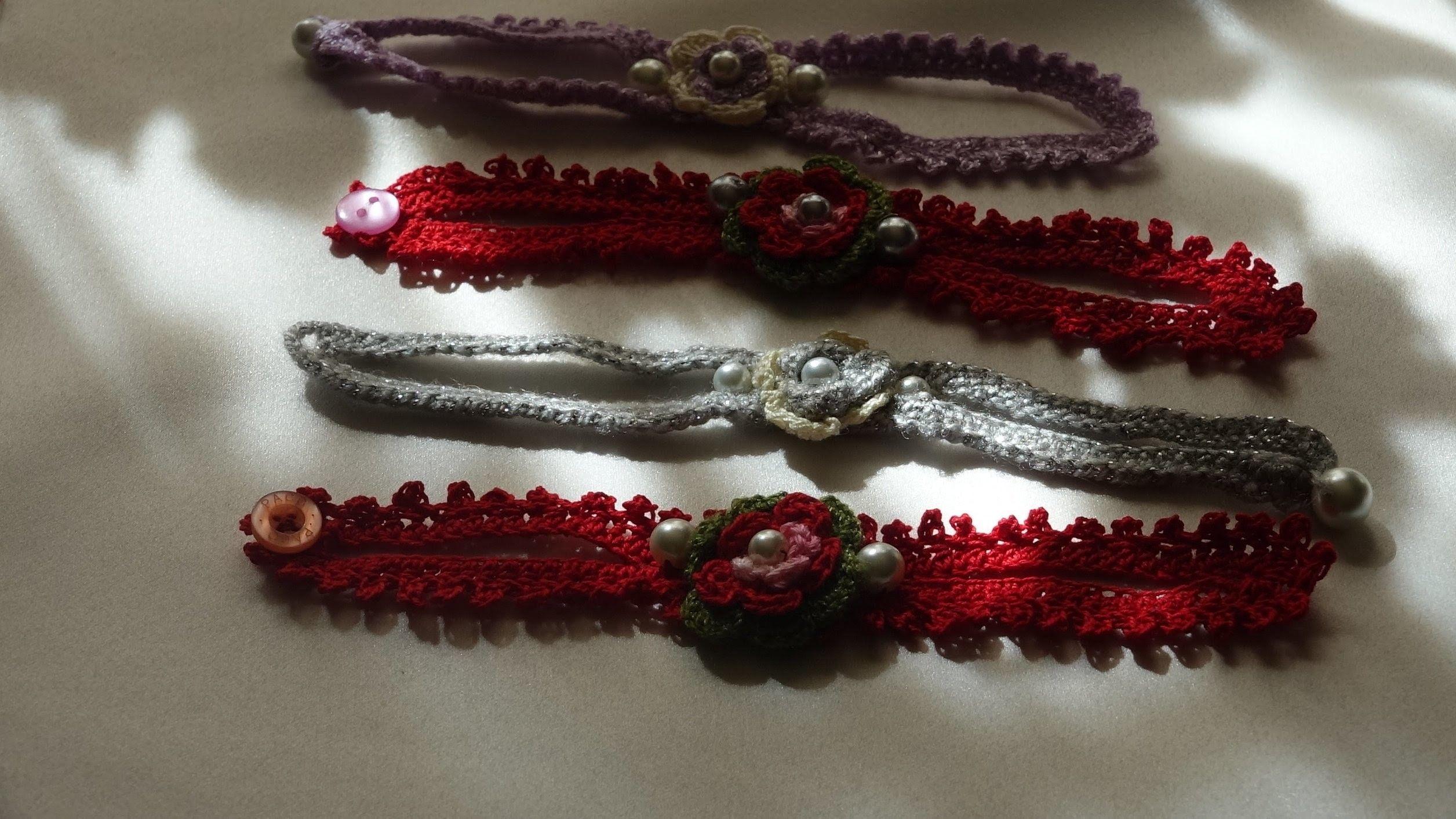 Como tejer una pulsera - How to crochet a bracelete