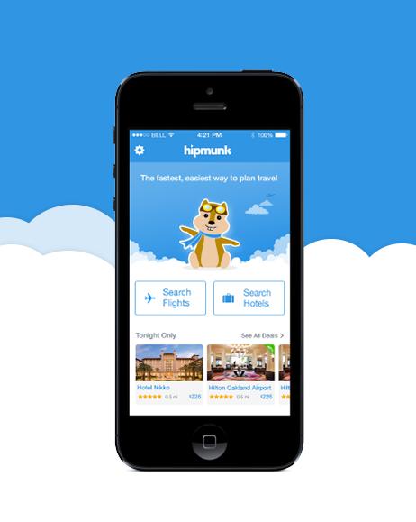 "Pinployee beltzner uses the Hipmunk app to ""plan a quick"