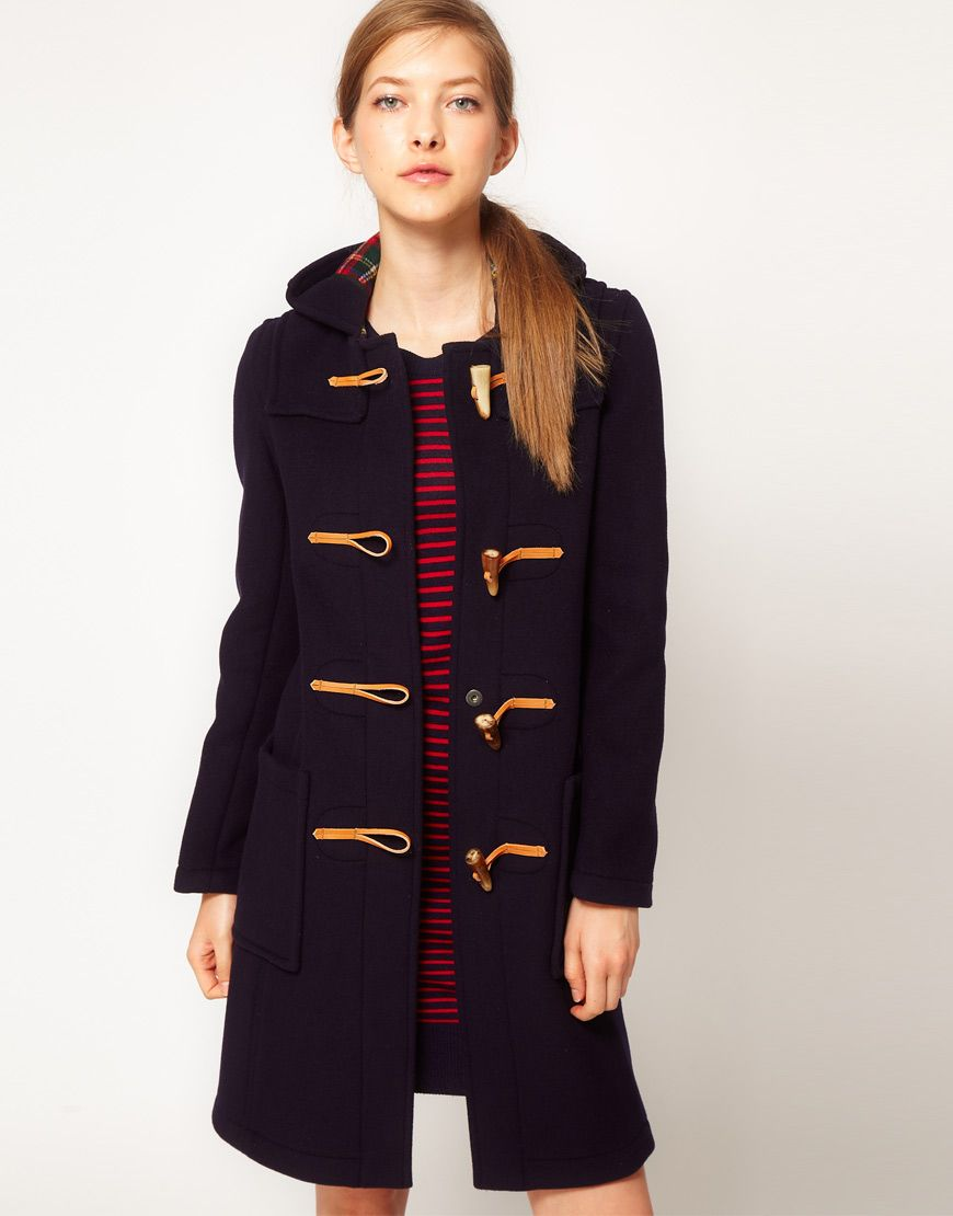 gloverall slim long duffle coat | wish list | Pinterest | Duffle ...