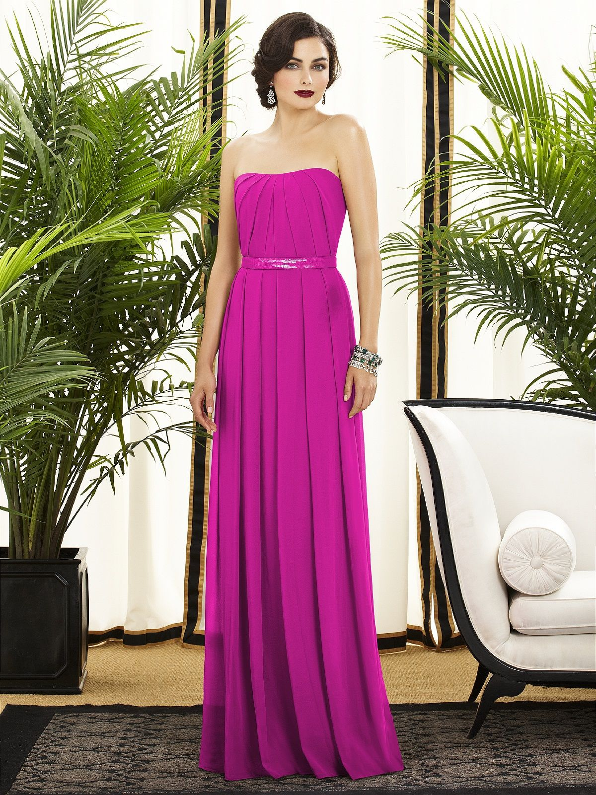 Dessy Collection Style 2886    #pink #bridesmaiddress
