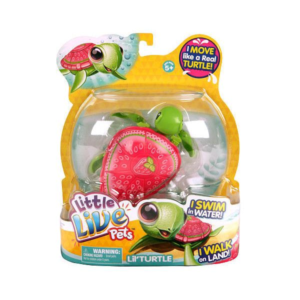 Little Live Pets Season 2 Turtle Single Pack Pink The Strawberry Turtle Moose Toys Featuring Polyvore Little Live Pets Pet Turtle Pets