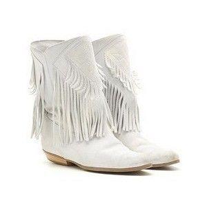 white tassel boots