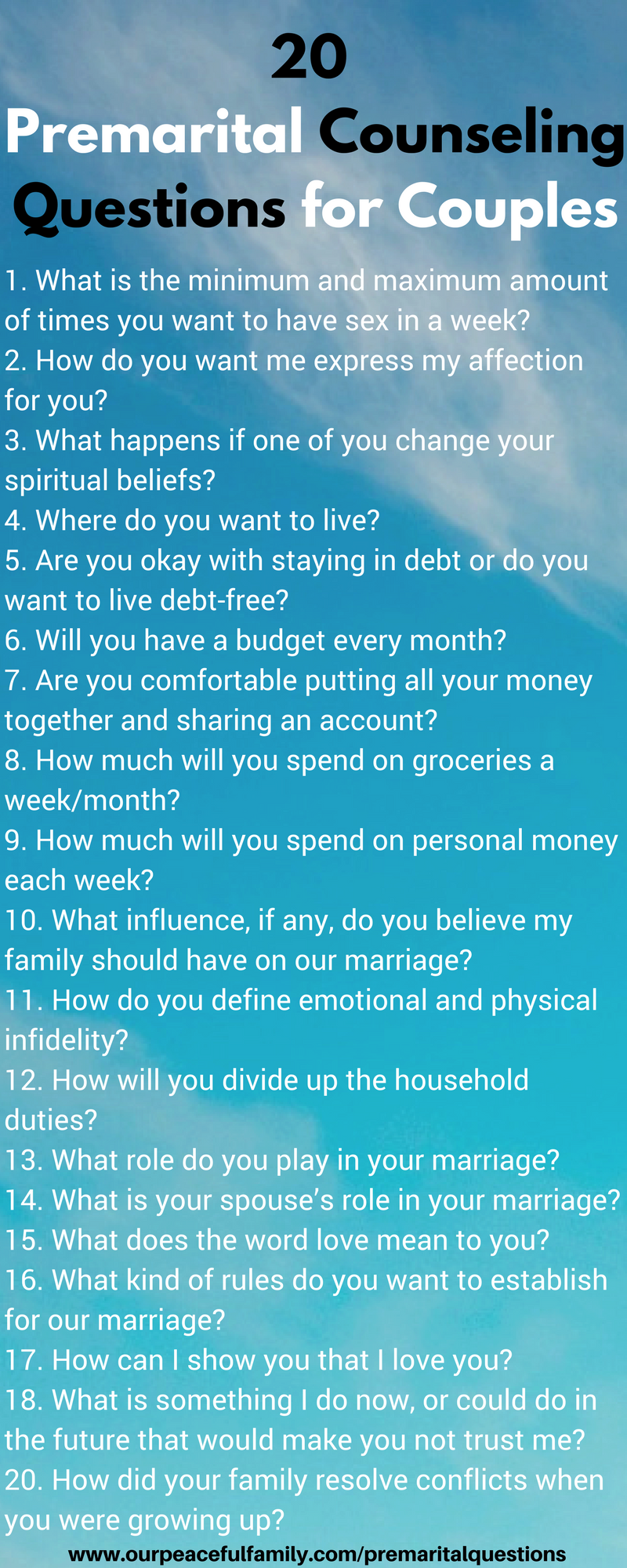 25 Premarital Counseling Questions Every Couple Must Discuss Before